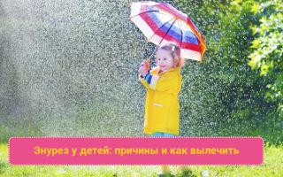 Причины энуреза (недержания мочи) у детей и эффективные методы лечения