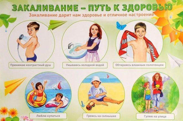 Закаливание ребенка от года до 3 лет