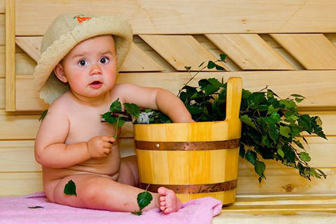 Безопасность в бане с ребенком до года