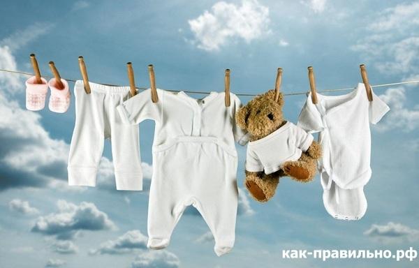 Учимся стирать детские вещи