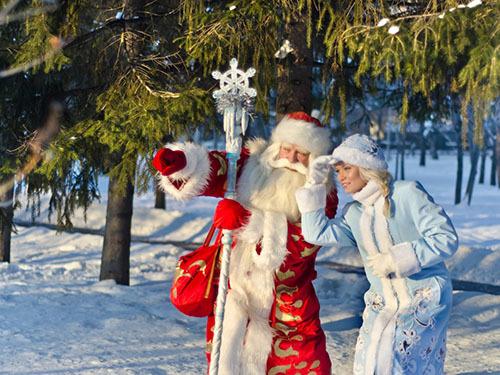 Новогодние игры с Дедом Морозом и Снегурочкой