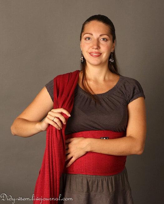 Слинг шарф намотка для новорожденных: как завязать слинг с кольцами?