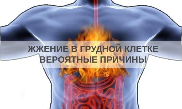 Из-за чего возникает жжение в груди и что с этим делать?