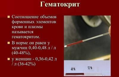 В каких случаях гематокрит повышается?