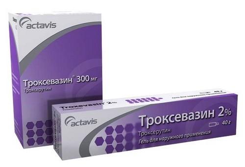 Инструкция по применению мази Троксевазин при геморрое