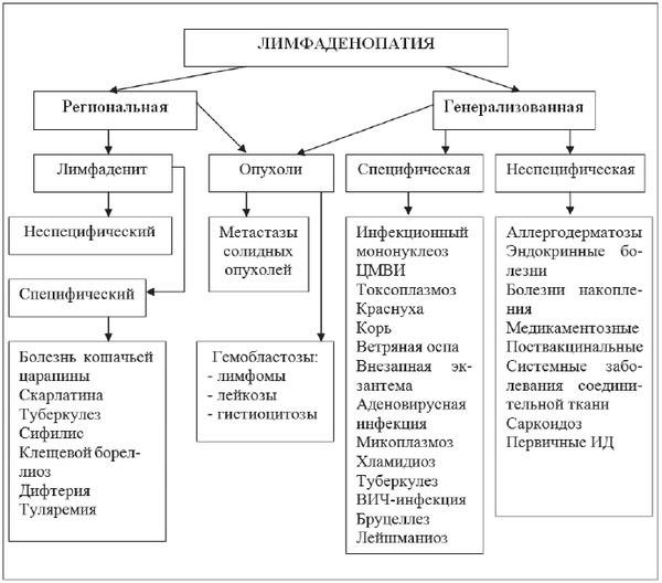 Причины, симптомы и лечение воспаления лимфоузлов
