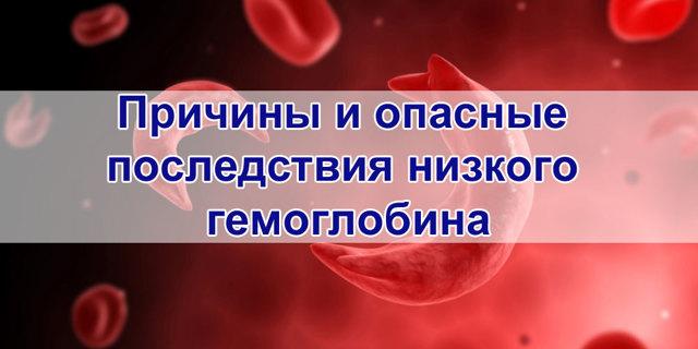 Опасные проявления и последствия низкого гемоглобина