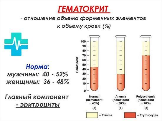 Основные показатели развернутого анализа крови